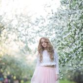 Фатиновая юбка нежно розового цвета