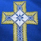 Крестик кружевной