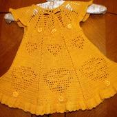 """Платье вязанное крючком для принцессы """"Солнышко"""""""