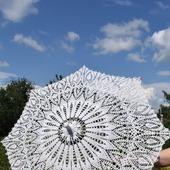 Вязанный  ажурный зонт
