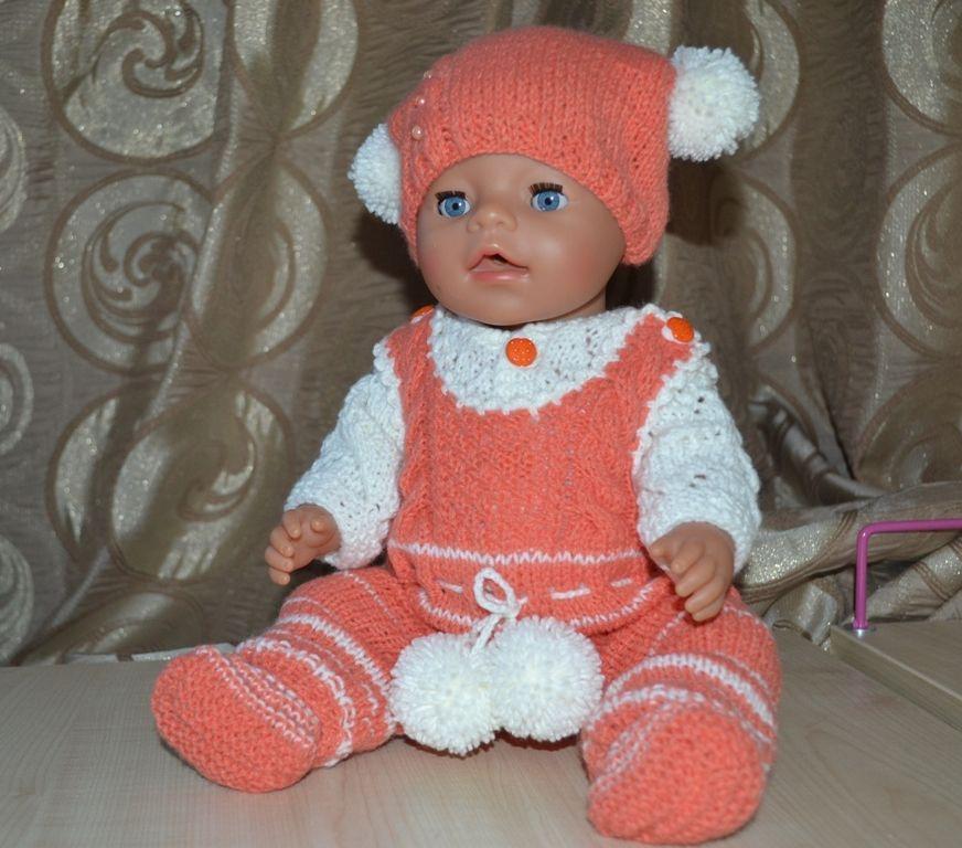 Вяжем костюмчики для куклы