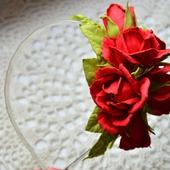 """Ободок с розами """"Красный"""""""