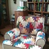 Чехол лоскутный на кресло