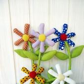 Цветы текстильные Ромашки