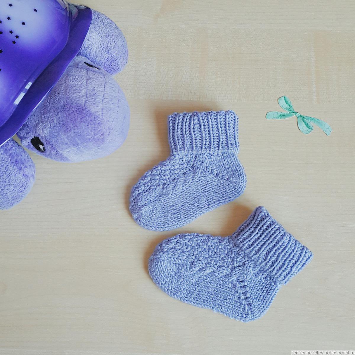 Вязание носков детям 3 лет