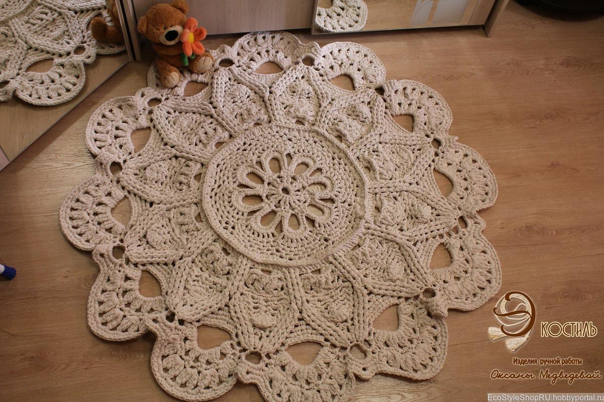 Вязание ковров крючком все 530