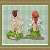"""Авторская схема для вышивания """"Ангелы"""""""
