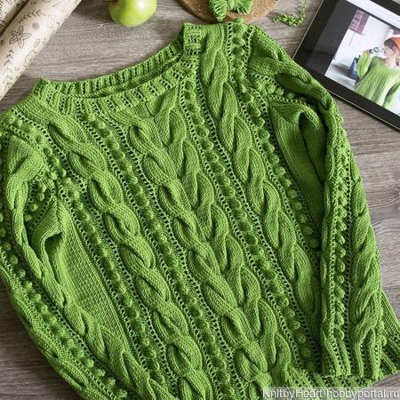 Вязаный свитер из хлопка ручной работы на заказ