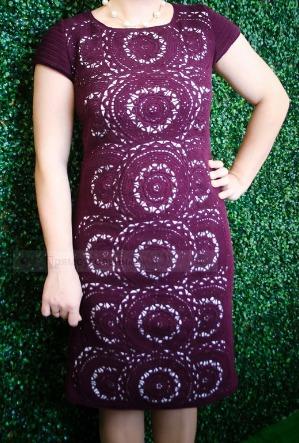 Платье Монако крючком от Irene IVAS ручной работы на заказ