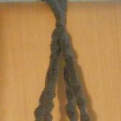 Кашпо подвесное коричневое