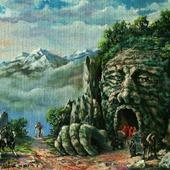 """В горах"" масляная живопись"