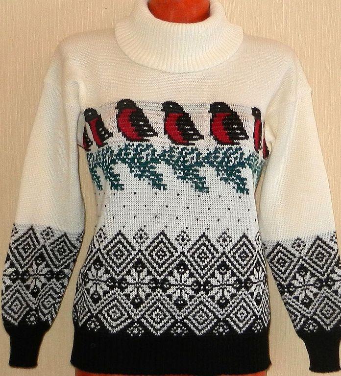Связать узор на свитере