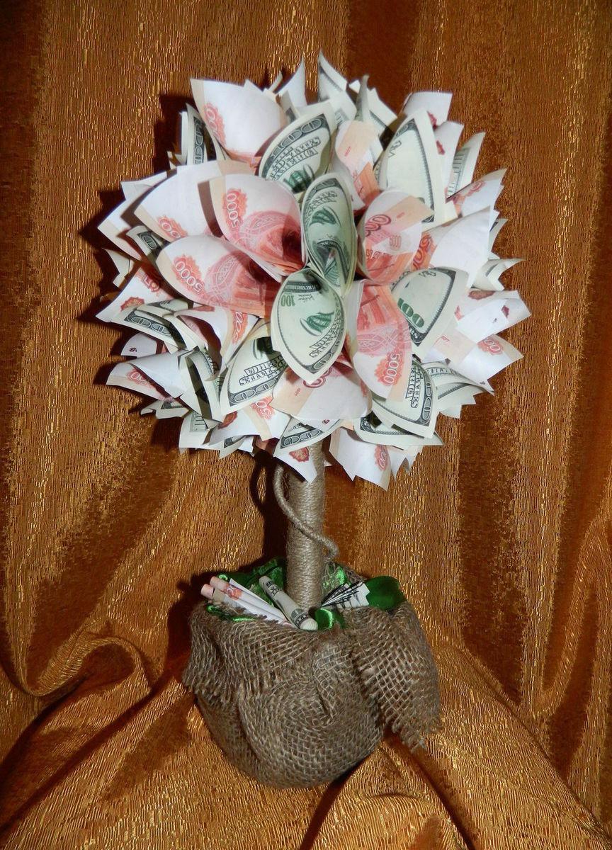 Денежное дерево из купюр мастер класс с пошаговым фото