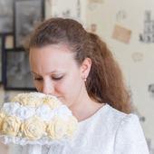 Букет невесты крючком