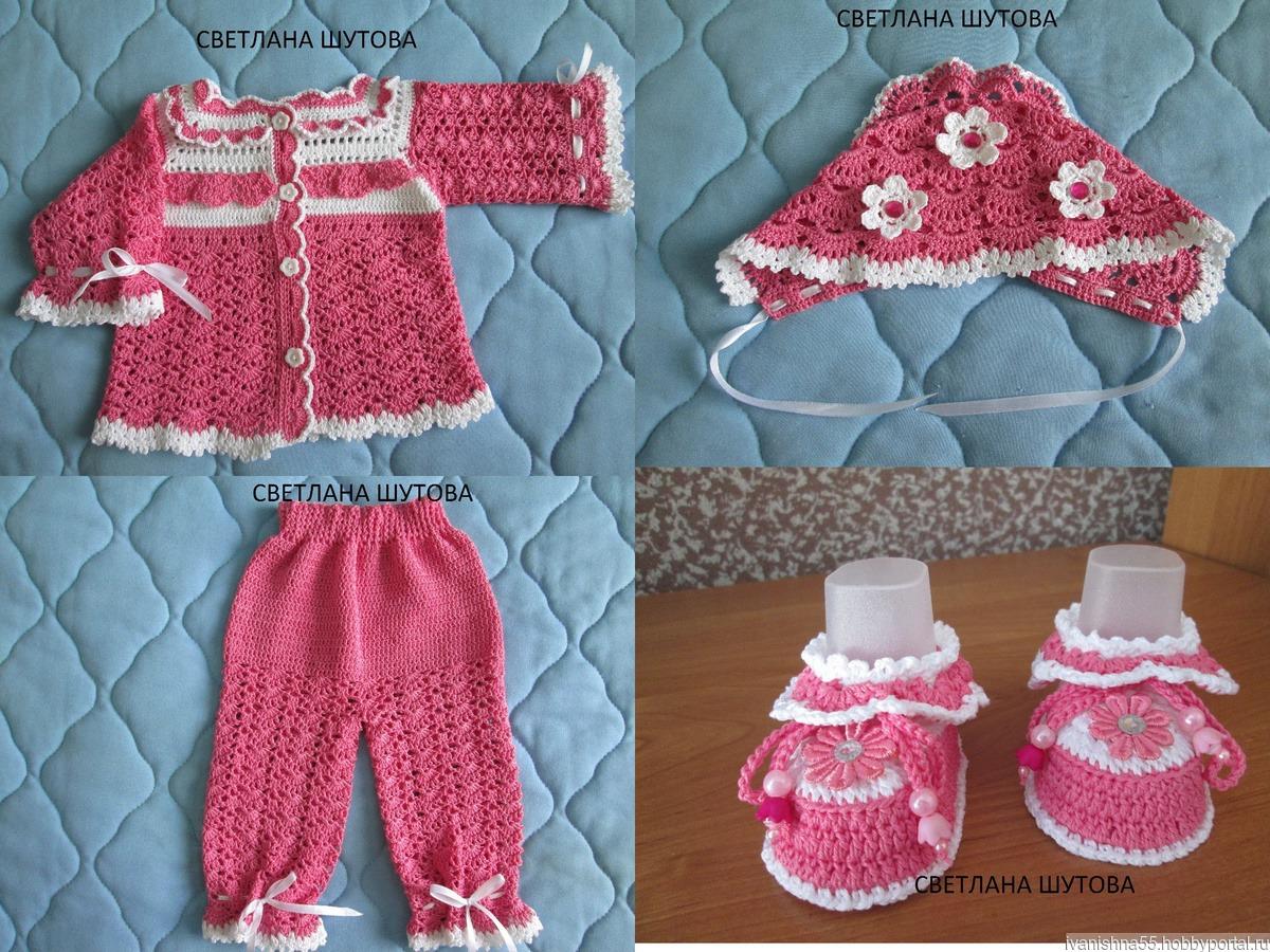 Комплект для новорожденного, описание, пример вязания 50