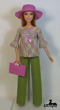 Брючный комплект для Барби ручной работы на заказ