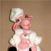 МК по вязанию овечка Клаудия