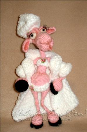 МК по вязанию овечка Клаудия ручной работы на заказ