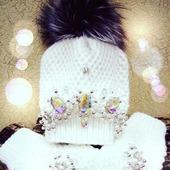Комплект (шапка+варежки)