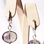 Серьги из серебра и чешского стекла