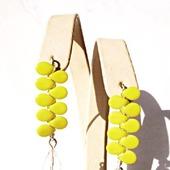 Серьги из серебра и чешского стекла-жёлтые