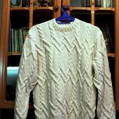 Мужской свитер Белоснежный