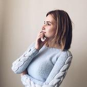 Вязаный свитер из альпаки