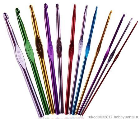 Набор алюминиевых крючков для вязания (2-8 мм) ручной работы на заказ