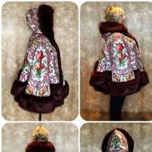 Пальто-Пончо из русской шали