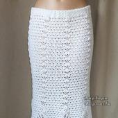 Белая вязаная юбка