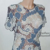 Кружевная вязаная  блузка