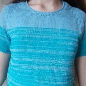 """Мастер - класс по вязанию пуловера - реглан """"Градиент"""""""