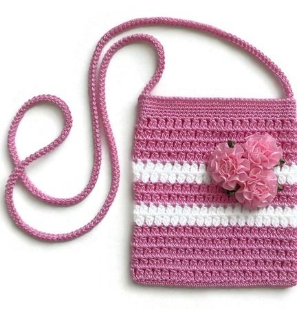 Вязание спицами сумочки для девочки 30