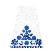 Платье из хлопка для девочки, ирландское кружево