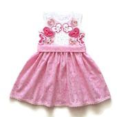 Комплект: платье и панамка из хлопка для девочки Бабочки