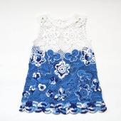 Платье из хлопка для девочки Гжель