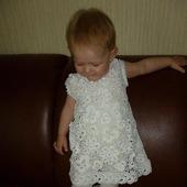Платье из хлопка для девочки Белоснежное