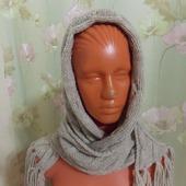 Вязаный шарф-снуд-капюшон
