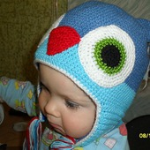 Вязаная шапочка-мордочка