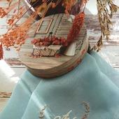 Носовой платок женский Бабочка батист кружево хлопок монограмма