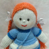 Рыжуля -вязаная куколка