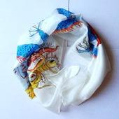 Шелковый платок с драконом. Батик