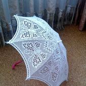 """Вязаный зонт """"Чародейка"""""""