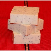 Натуральное мыло-скраб с голубым маком