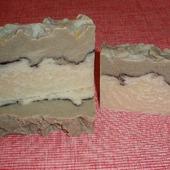 Яблочный сидр. Натуральное мыло с белой и зеленой глиной