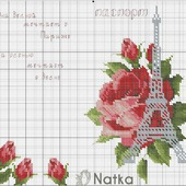 Обложка на паспорт - мечты о Париже