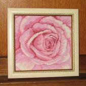 """Вышитая картина """"Розовая роза"""""""