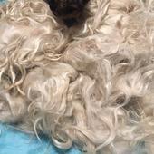 Руно козьего пуха на волосы куклам