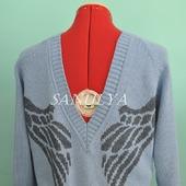 """Пуловер из хлопка """"Крылья ангела"""""""