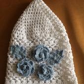 Детская шапочка с цветочками